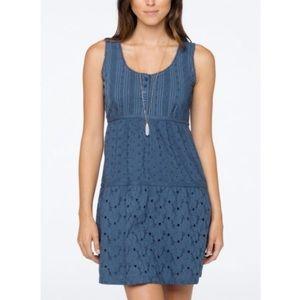 Prana Kendall Blue Eyelet Sleeveless Dress